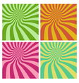 tunnel vortex in multiple color stripe pattern vector image