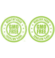 Grunge rubber stamp with inscription GMO free vector image