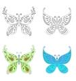 Set abstract butterflies vector image vector image