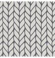 Decorative knitting braids seamless pattern vector image