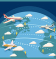 aviation global logistic concept cartoon style vector image