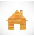 Brick Home Icon vector image