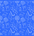 christmas blue background hand drawn white vector image