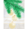 Christmas grey background with evening balls vector image