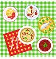 dining table top view vector image