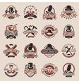 Gentlemans vintage badges vector image