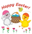 Greeting card happy Easter vector image