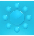 Modern glossy circles on blue background vector image