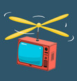 tv with propeller vector image