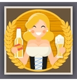 Oktoberfest Poster Girl With Beer Festival vector image