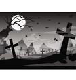 halloween tomb background vector image vector image