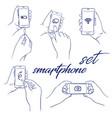 icon set smartphone vector image vector image
