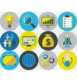 Start-up icon set in flat design style vector image vector image