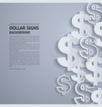 dollar signs on grey background vector image