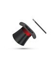 Magician Top Hat with stick vector image