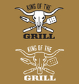 King of the Grill barbecue image vector image