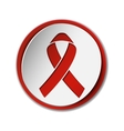 Red ribbon - AIDS awereness sign vector image