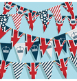 UK bunting background vector image