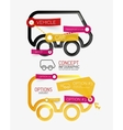 car infographic tag cloud vector image