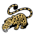 crouching leopard mascot vector image