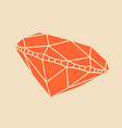 diamond simple in top and side views vector image