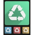 Flat icon set eco recycled vector image