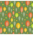seamless fall pattern vector image
