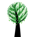 Spring tree with green leaves vector image