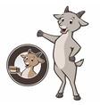 Cartoon Goat Coffee vector image