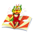 boy and book vector image vector image