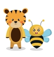 cute couple stuffed animals vector image