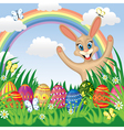 Easter congratulatory background vector image vector image