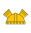 game warrior helmet icon vector image