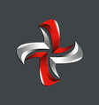 star circle technology logo vector image