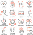 Set of icons related to business management - 16 vector image vector image