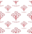 8 march seamless pattern sketch vector image vector image