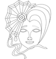 icon of carnival mask on white background vector image