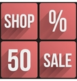 Flat icon set shop sale for Web and Application vector image