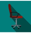 Red office chair icon flat style vector image