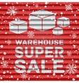 Winter warehouse super sale vector image