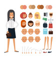 woman character constructor vector image