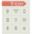 Wristwatch icon set vector image