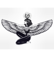 Egyptian godess Isis with outstratched wings vector image