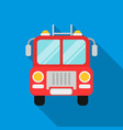 fire truck icon flat single silhouette fire vector image