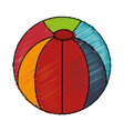 balloon plastic isolated icon vector image