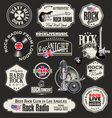 Rock music stamps and labels vector image vector image