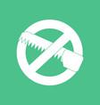 icon no saws vector image vector image