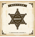 Vintage Western Sheriff Badge vector image vector image