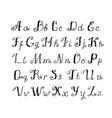 Cute Handwritten ink alphabet vector image vector image