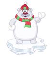 winter polar bear vector image vector image